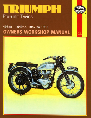 Repair Manual, Triumph Pre Unit
