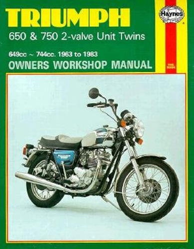 Repair Manual, Triumph 650/750